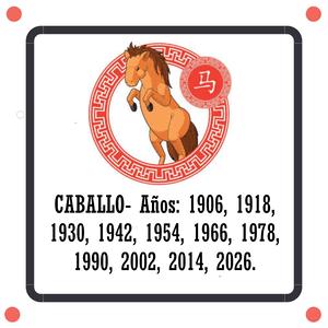 horóscopo chino caballo