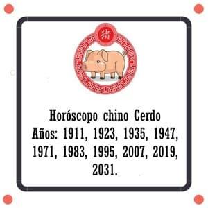 Horóscopo chino Cerdo